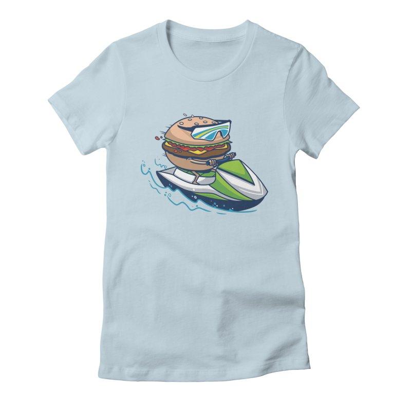 Cheeseburger in Paradise Women's T-Shirt by Ben Douglass