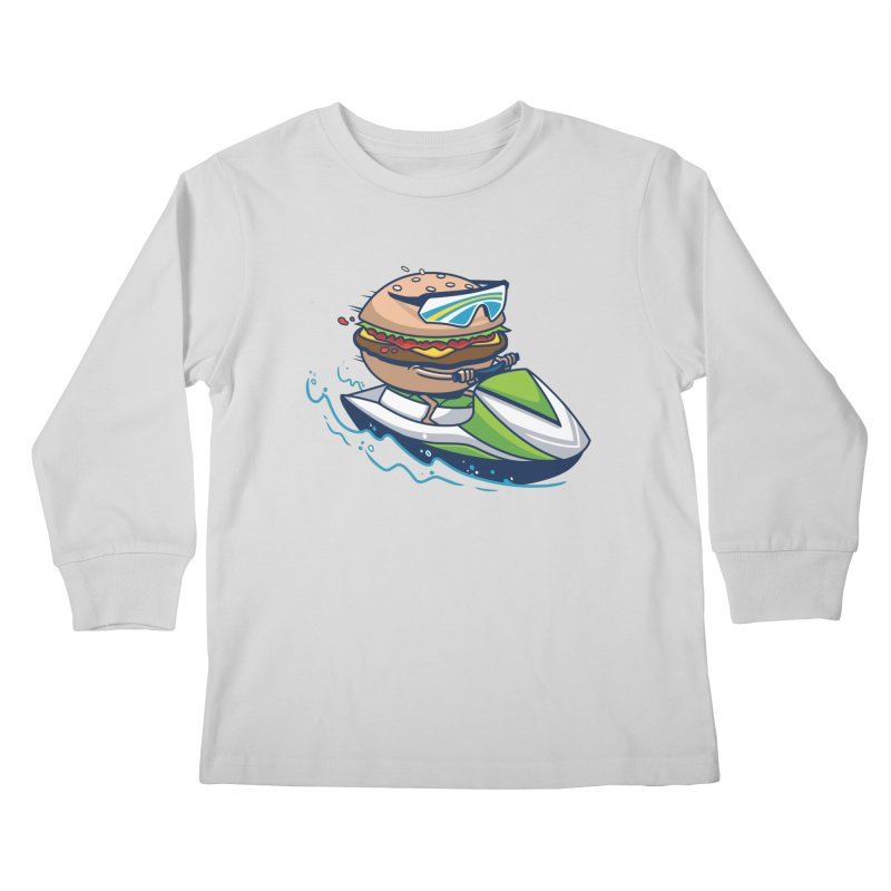 Cheeseburger in Paradise Kids Longsleeve T-Shirt by Ben Douglass