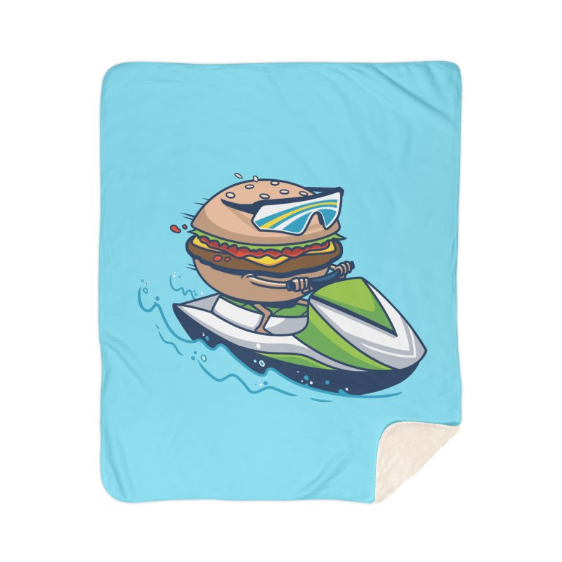 Cheeseburger in Paradise Home Blanket by Ben Douglass