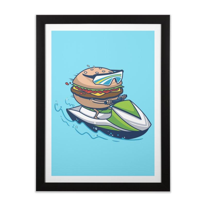 Cheeseburger in Paradise Home Framed Fine Art Print by Ben Douglass