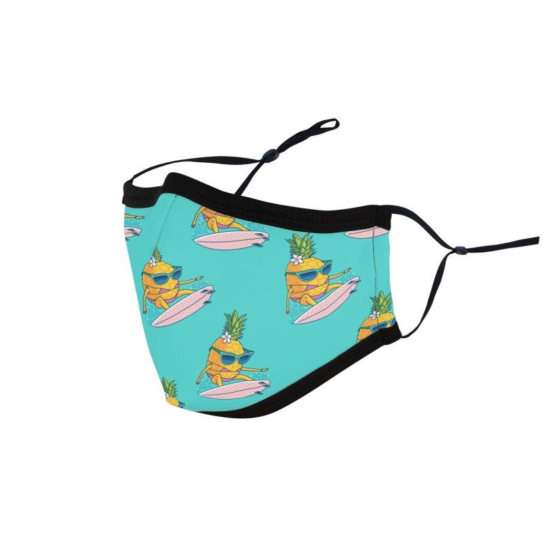 Pointy Break Pineapple Accessories Face Mask by Ben Douglass