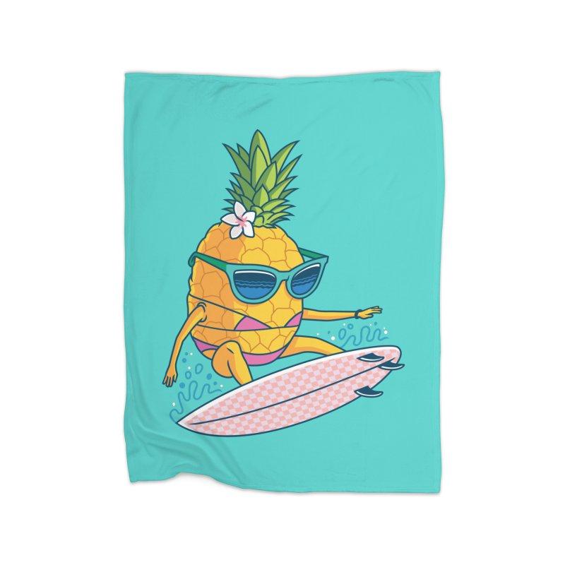 Pointy Break Pineapple Home Blanket by Ben Douglass