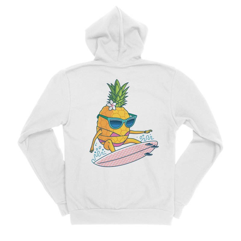 Pointy Break Pineapple Women's Zip-Up Hoody by Ben Douglass