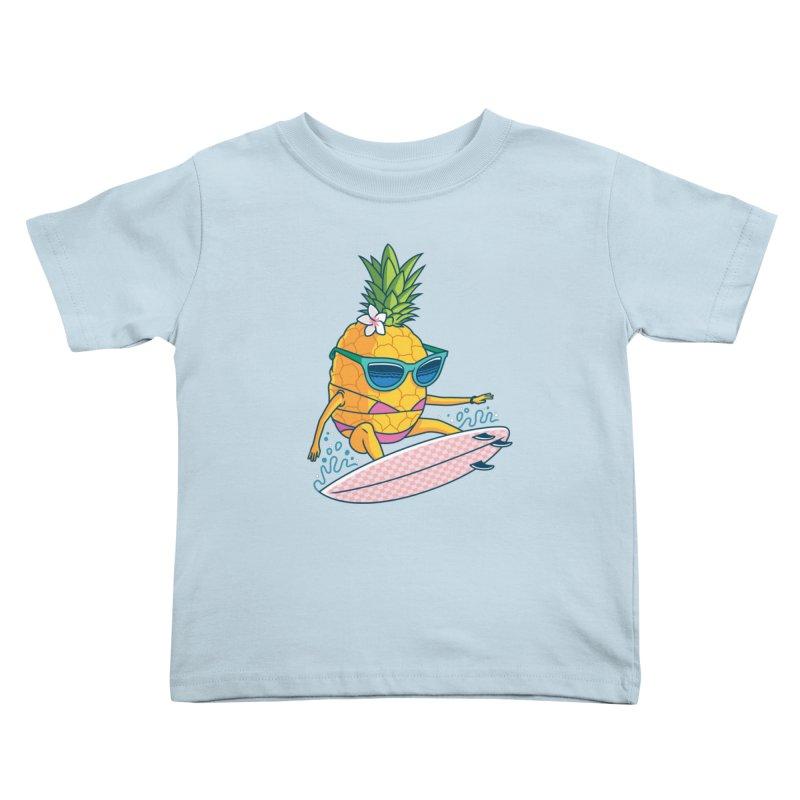 Pointy Break Pineapple Kids Toddler T-Shirt by Ben Douglass