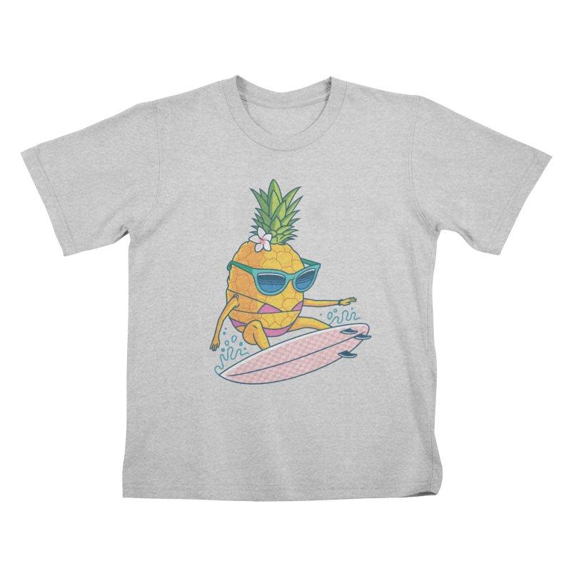 Pointy Break Pineapple Kids T-Shirt by Ben Douglass
