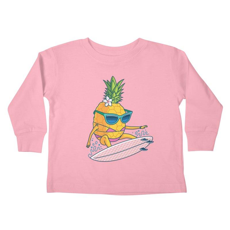 Pointy Break Pineapple Kids Toddler Longsleeve T-Shirt by Ben Douglass