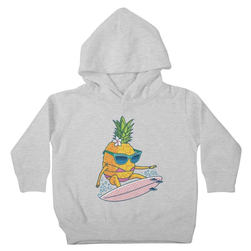 Pointy Break Pineapple Kids Toddler Pullover Hoody by Ben Douglass