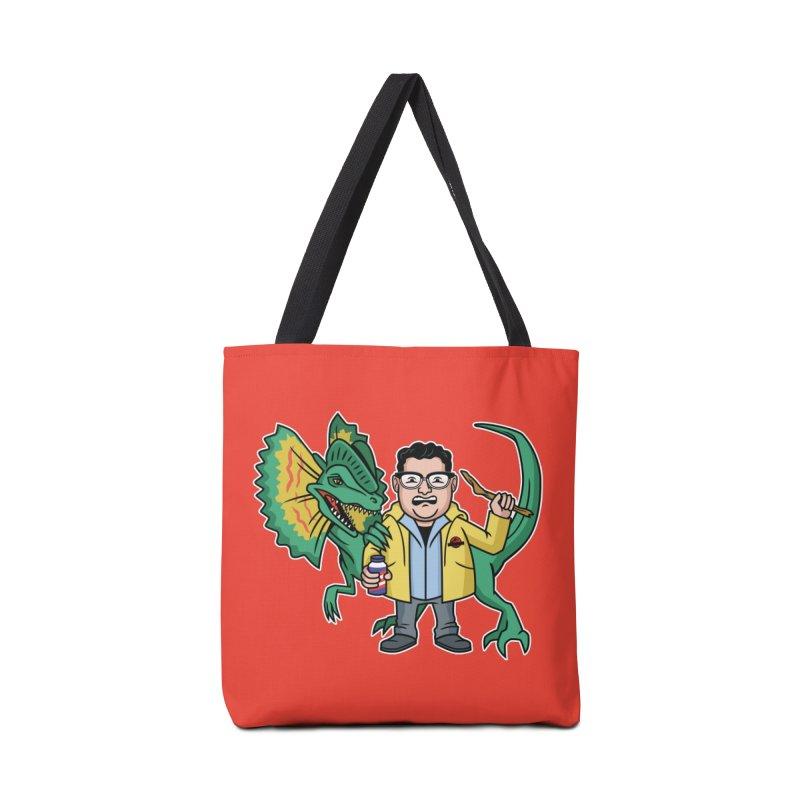 Dinosaur Park Hacker Accessories Bag by Ben Douglass