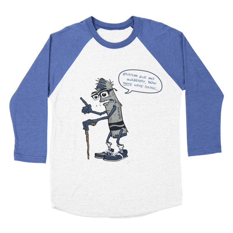 Oldest Crayon in the Box Men's Baseball Triblend Longsleeve T-Shirt by Ben Douglass