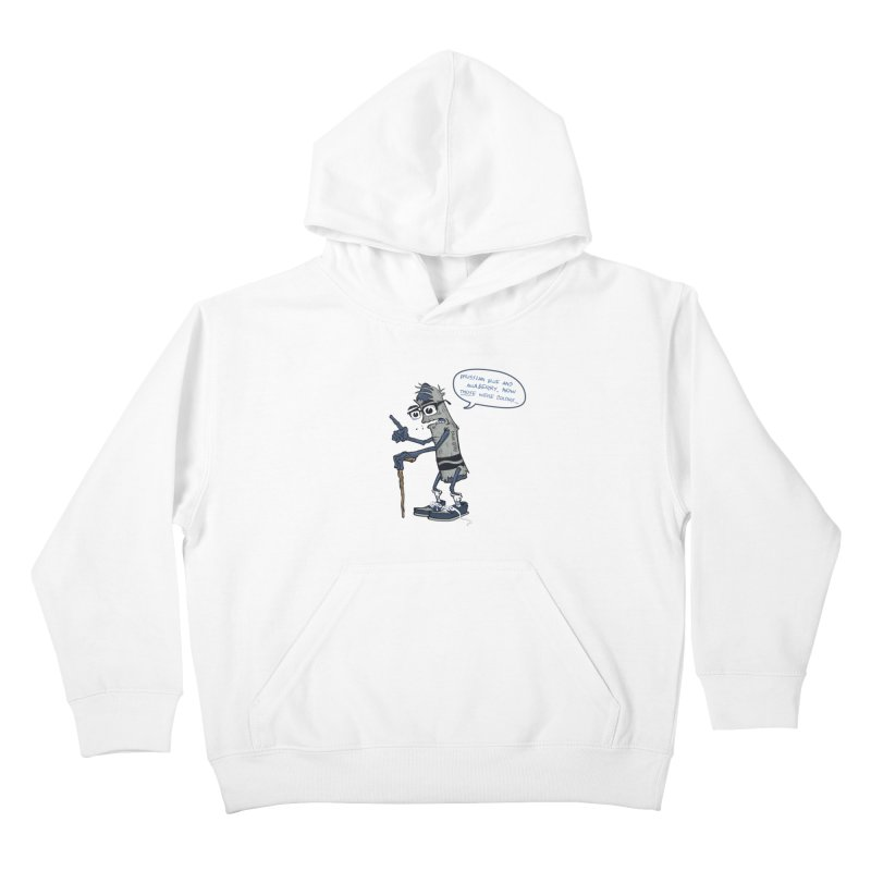 Oldest Crayon in the Box Kids Pullover Hoody by Ben Douglass