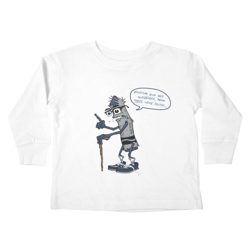 Oldest Crayon in the Box Kids Toddler Longsleeve T-Shirt by Ben Douglass
