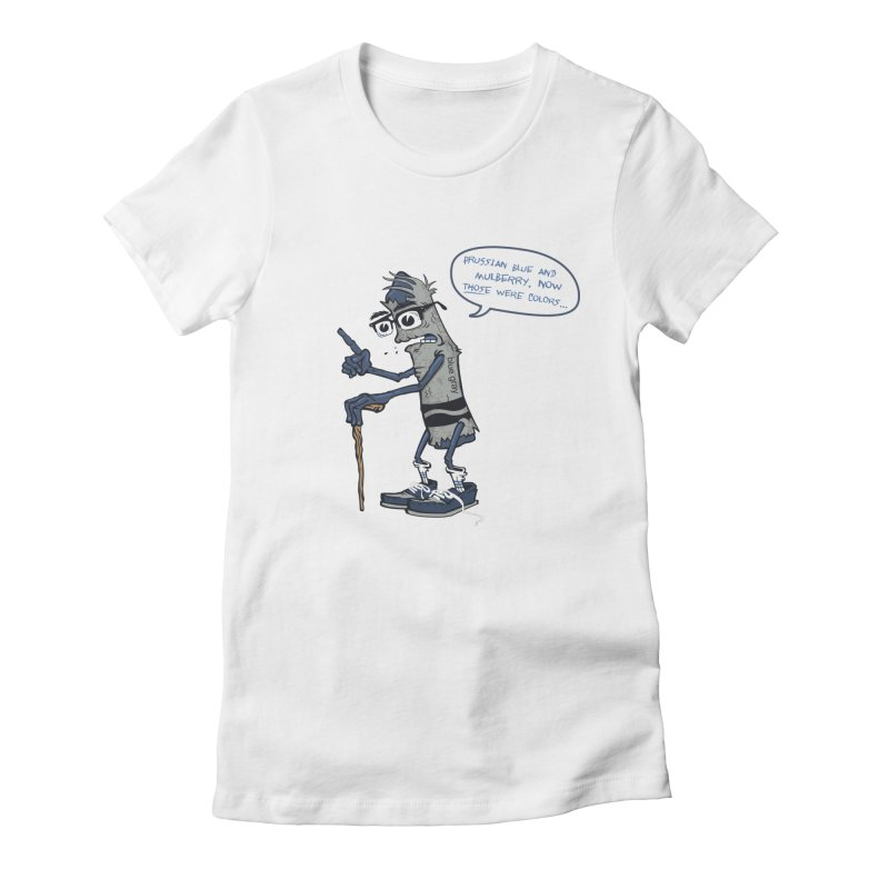 Oldest Crayon in the Box Women's Fitted T-Shirt by Ben Douglass