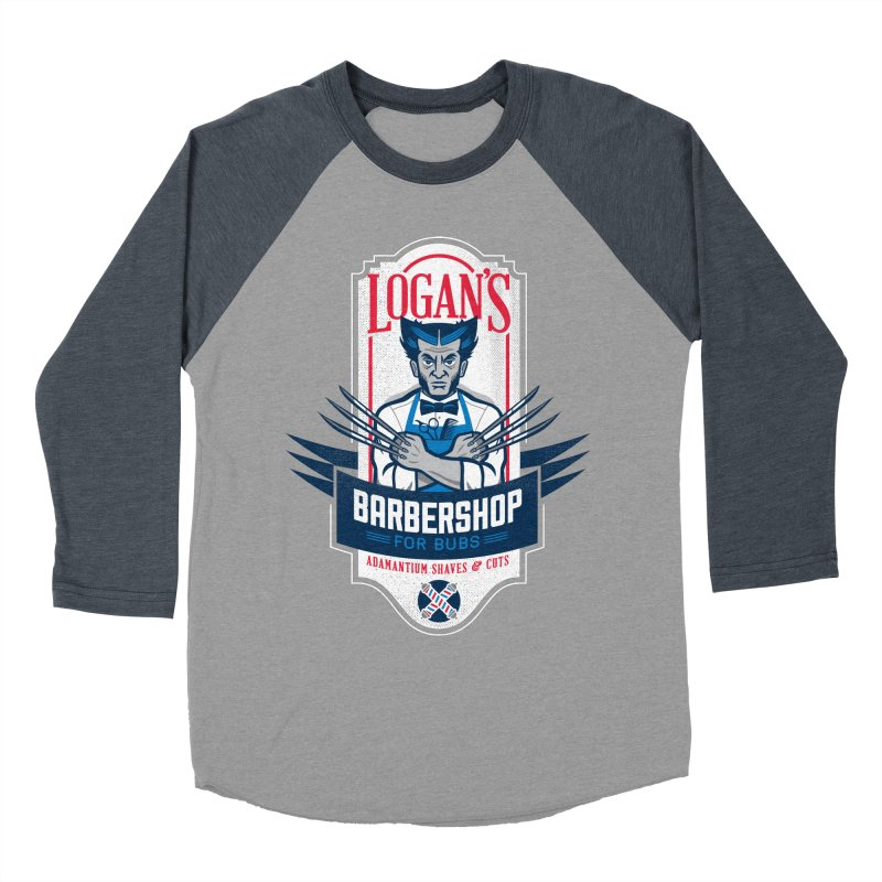 Logan's BarberShop Women's Baseball Triblend T-Shirt by Ben Douglass