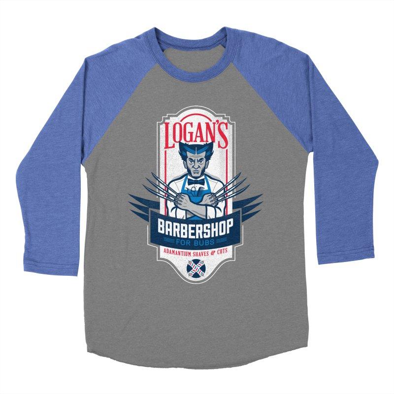 Logan's BarberShop Men's Baseball Triblend T-Shirt by Ben Douglass