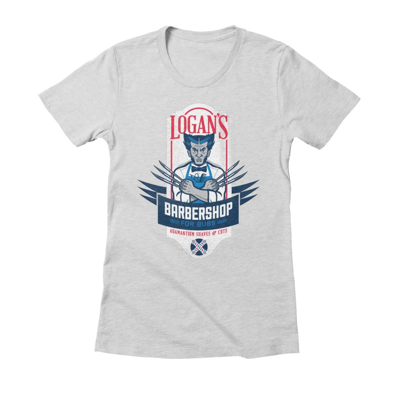 Logan's BarberShop Women's Fitted T-Shirt by Ben Douglass