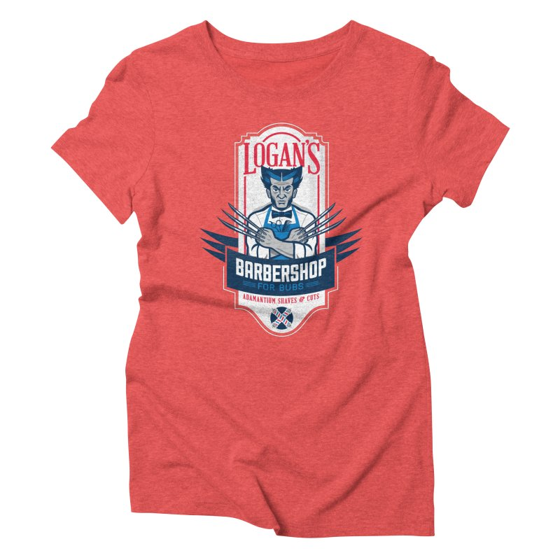 Logan's BarberShop Women's Triblend T-Shirt by Ben Douglass