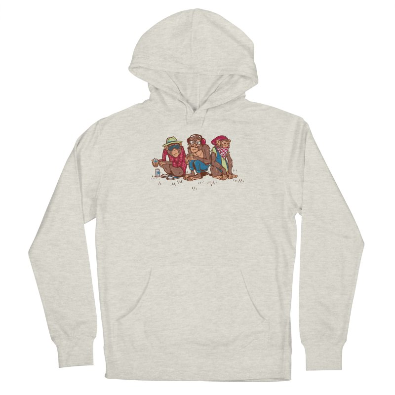 Three Wise Hipster Monkeys Men's Pullover Hoody by Ben Douglass