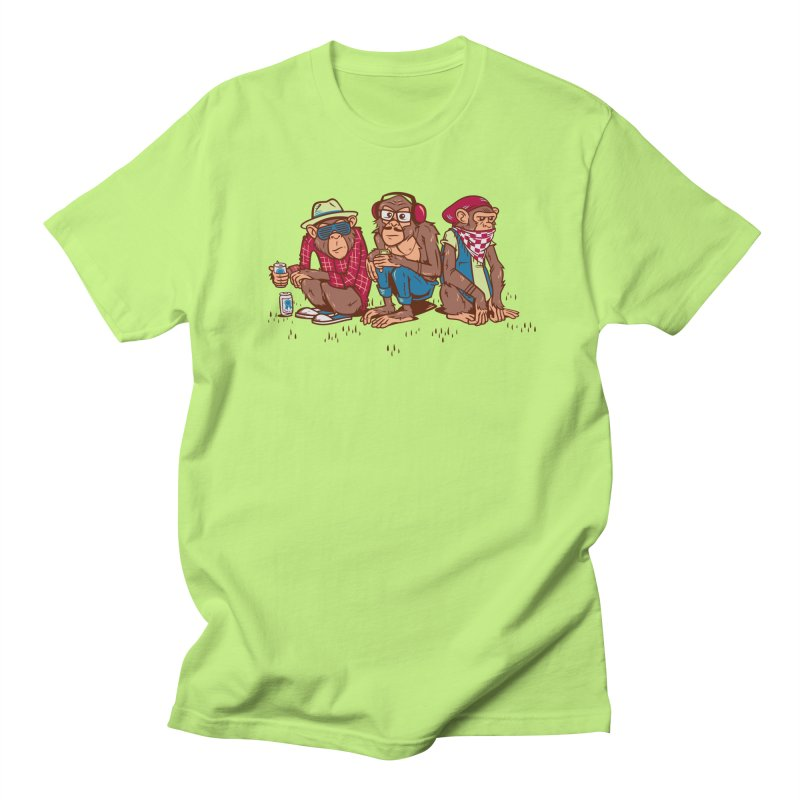 Three Wise Hipster Monkeys Men's T-Shirt by Ben Douglass