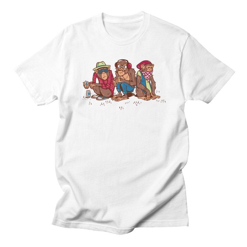 Three Wise Hipster Monkeys Men's T-Shirt by Ben Douglass