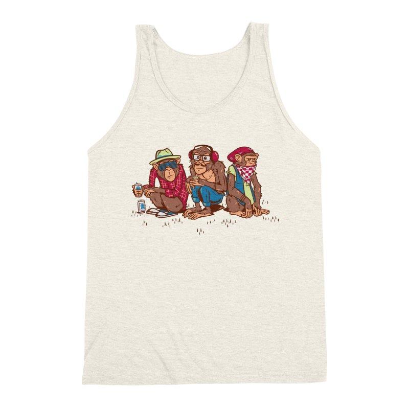 Three Wise Hipster Monkeys Men's Tank by Ben Douglass