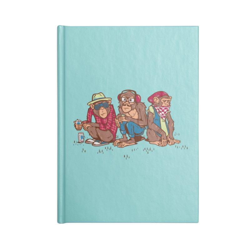 Three Wise Hipster Monkeys Accessories Notebook by Ben Douglass