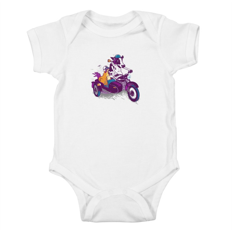 Fast Food Kids Baby Bodysuit by Ben Douglass