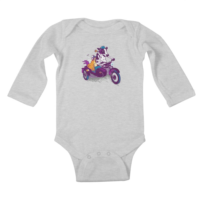 Fast Food Kids Baby Longsleeve Bodysuit by Ben Douglass