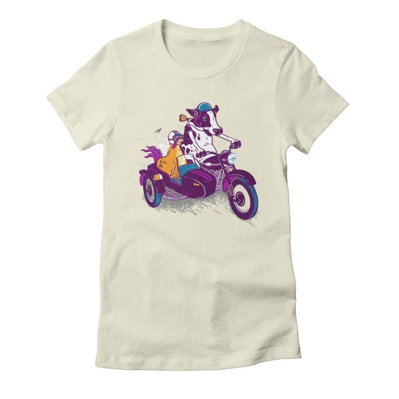 Fast Food Women's Fitted T-Shirt by Ben Douglass