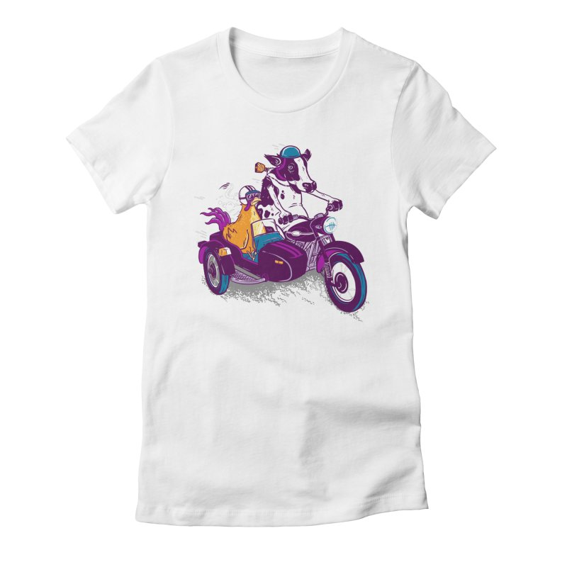 Fast Food Women's Fitted T-Shirt by Ben Douglass