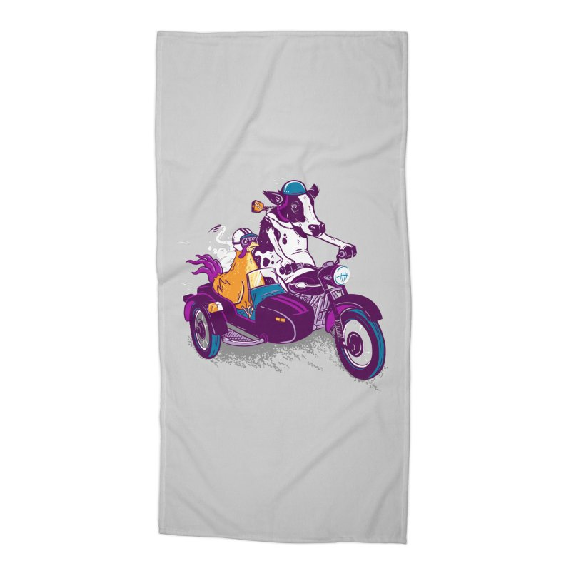 Fast Food Accessories Beach Towel by Ben Douglass