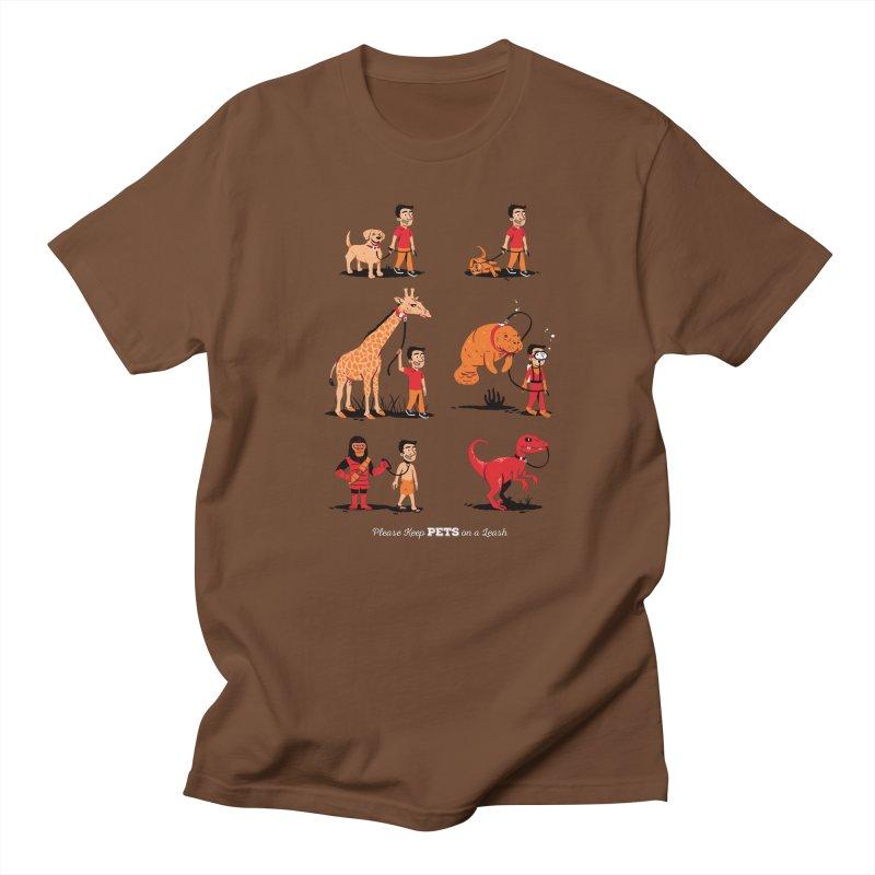Leash Your Pet Men's T-Shirt by Ben Douglass