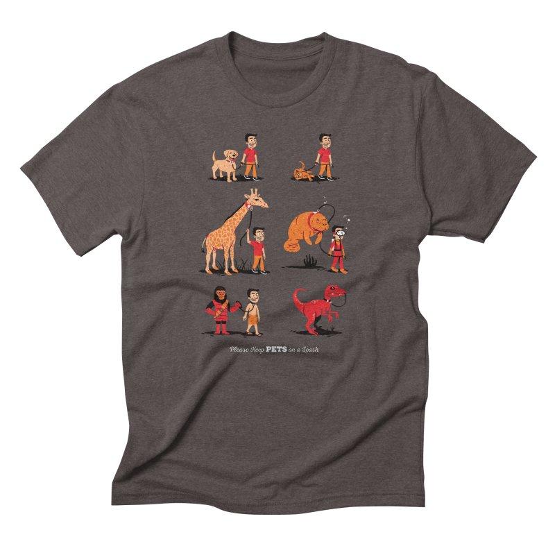 Leash Your Pet Men's Triblend T-Shirt by Ben Douglass