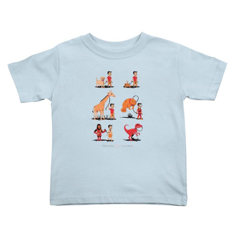 Leash Your Pet Kids Toddler T-Shirt by Ben Douglass