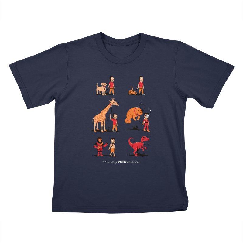 Leash Your Pet Kids T-Shirt by Ben Douglass