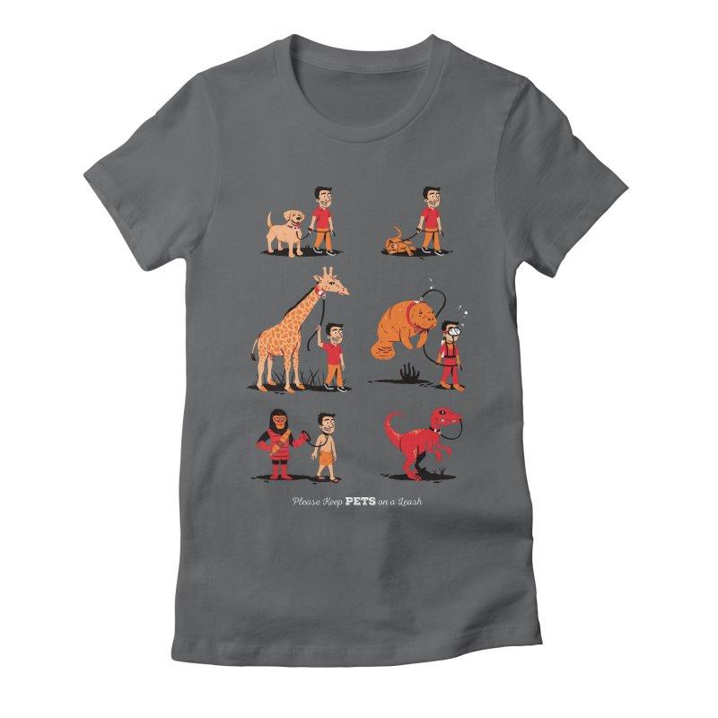 Leash Your Pet Women's Fitted T-Shirt by Ben Douglass