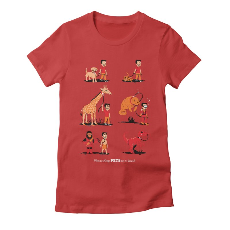 Leash Your Pet Women's Fitted T-Shirt by Ben Douglass
