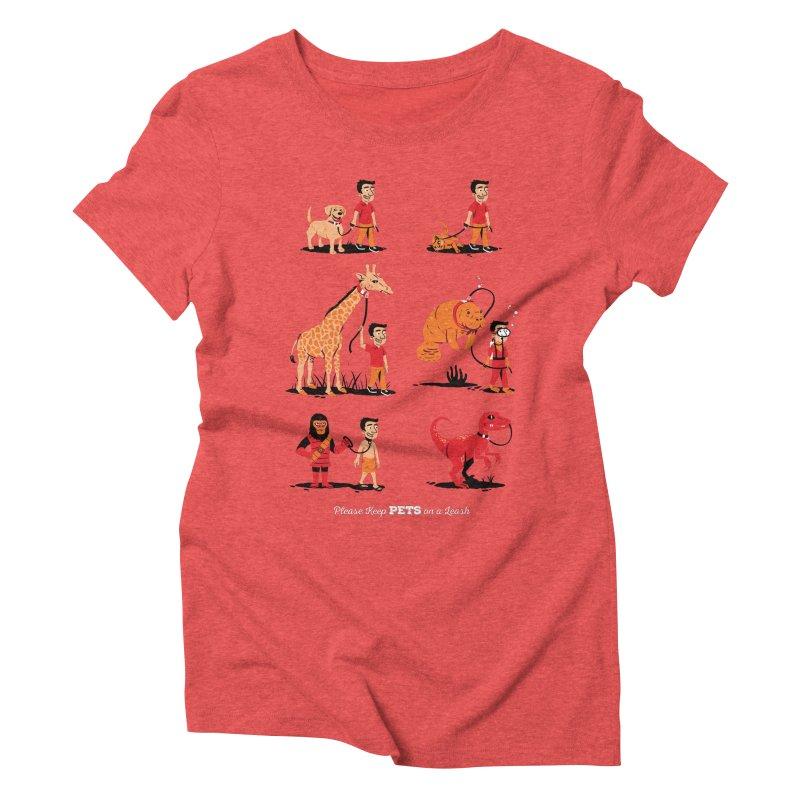 Leash Your Pet Women's Triblend T-shirt by Ben Douglass