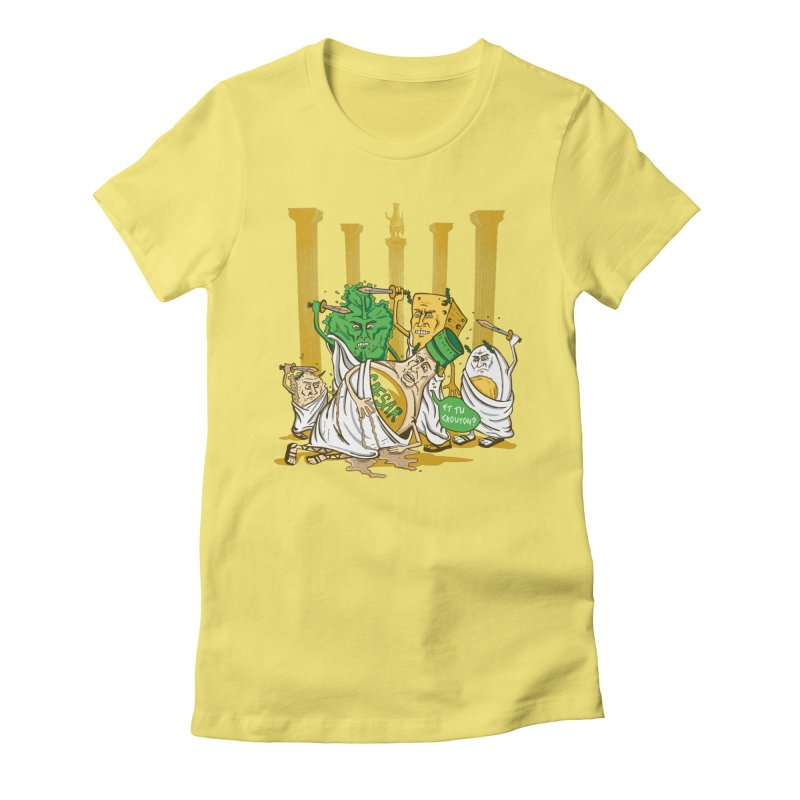 Et Tu Crouton? Women's Fitted T-Shirt by Ben Douglass