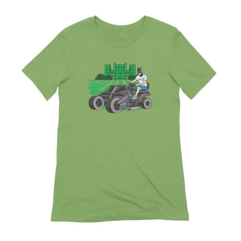 The Bat-mow-bile Women's Extra Soft T-Shirt by Ben Douglass