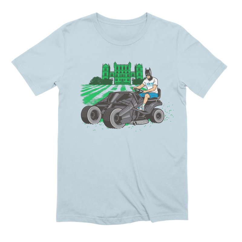 The Bat-mow-bile Men's Extra Soft T-Shirt by Ben Douglass