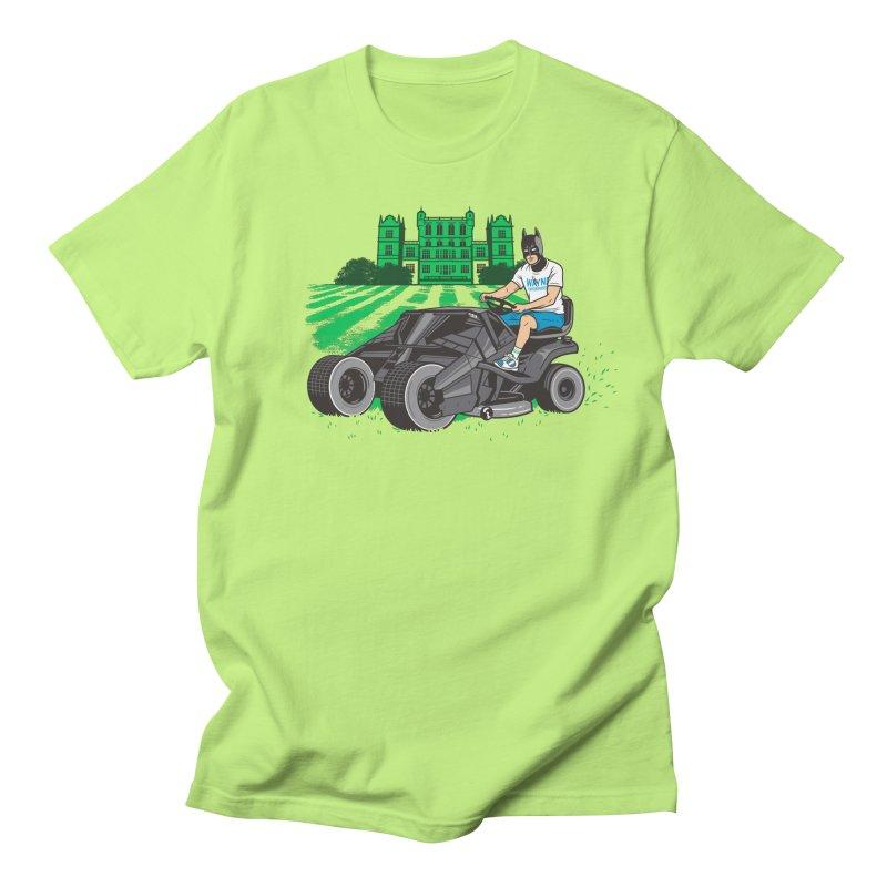 The Bat-mow-bile Women's Regular Unisex T-Shirt by Ben Douglass