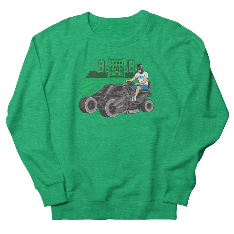 The Bat-mow-bile Men's French Terry Sweatshirt by Ben Douglass
