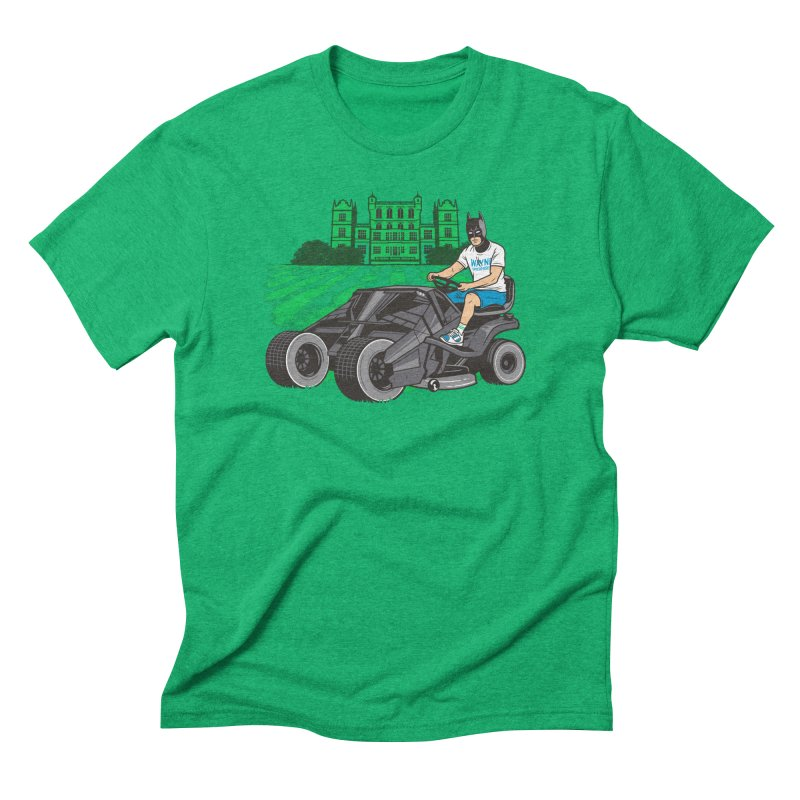 The Bat-mow-bile Men's Triblend T-Shirt by Ben Douglass