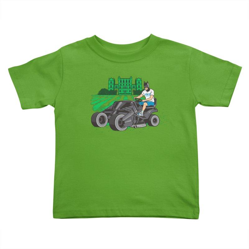 The Bat-mow-bile Kids Toddler T-Shirt by Ben Douglass