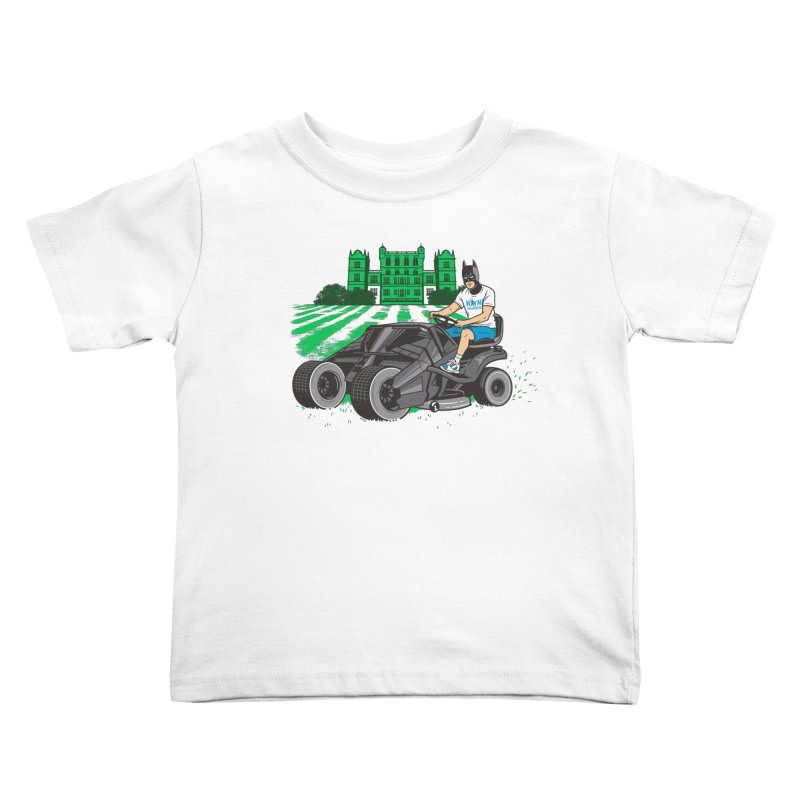 The Bat-mow-bile Kids Toddler T-Shirt by Ben Douglass