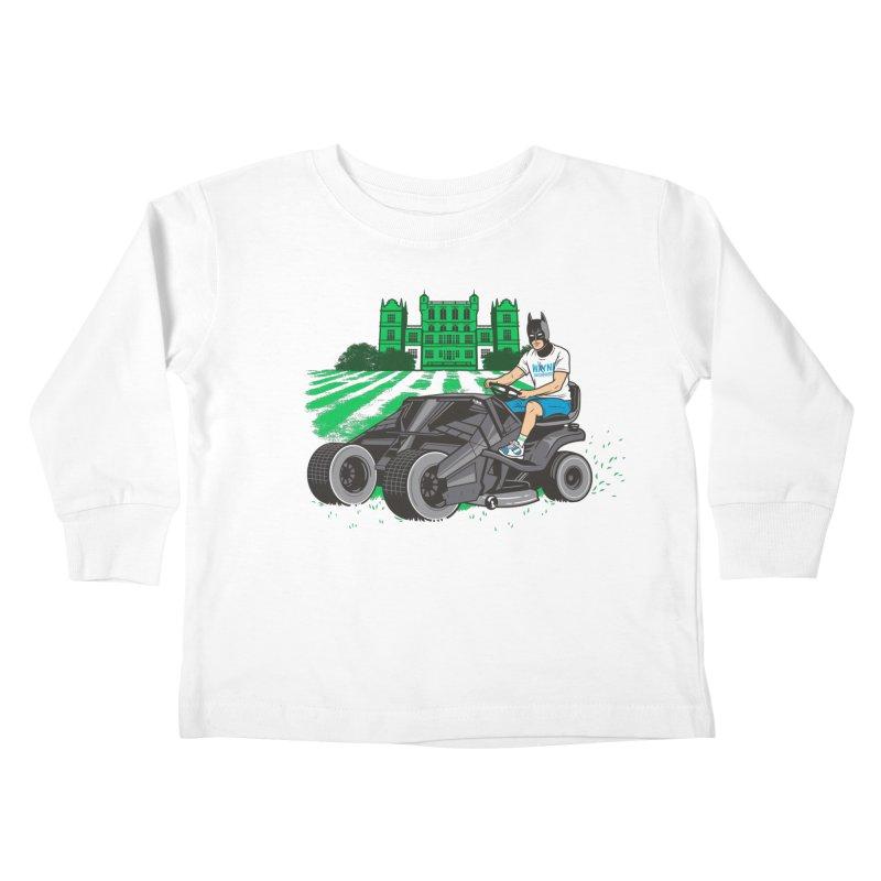 The Bat-mow-bile Kids Toddler Longsleeve T-Shirt by Ben Douglass