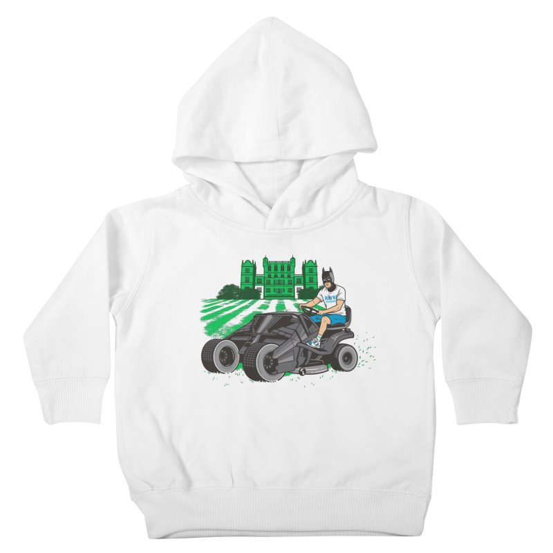 The Bat-mow-bile Kids Toddler Pullover Hoody by Ben Douglass