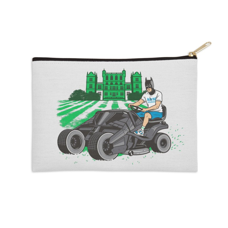 The Bat-mow-bile Accessories Zip Pouch by Ben Douglass