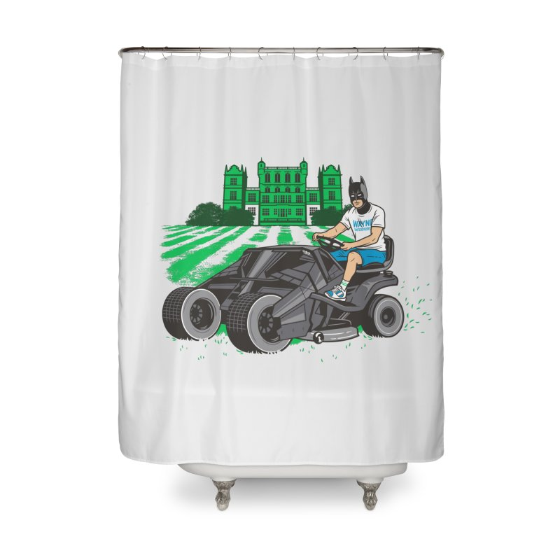 The Bat-mow-bile Home Shower Curtain by Ben Douglass