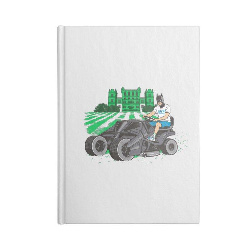 The Bat-mow-bile Accessories Lined Journal Notebook by Ben Douglass